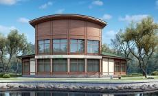 Проект бетонного дома 56-46