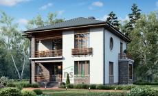 Проект бетонного дома 56-52