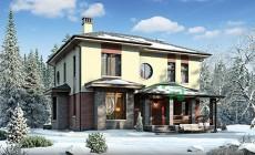 Проект бетонного дома 56-56