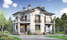 Проект бетонного дома 56-67