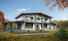 Проект бетонного дома 56-76