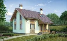 Проект бетонного дома 56-78