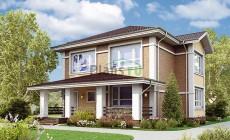 Проект бетонного дома 56-80
