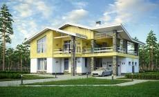 Проект бетонного дома 56-84