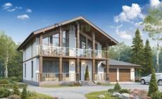Проект бетонного дома 56-87