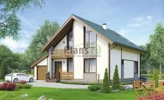 Проект бетонного дома 56-88