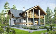 Проект бетонного дома 56-90