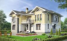 Проект бетонного дома 56-91