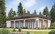 Проект бетонного дома 56-98