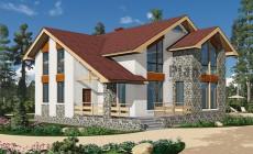 Проект бетонного дома 57-54