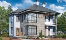 Проект бетонного дома 57-56