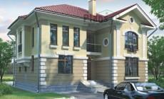 Проект бетонного дома 57-57