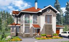Проект бетонного дома 57-74