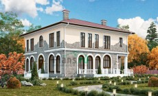 Проект бетонного дома 57-76
