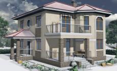 Проект бетонного дома 57-77