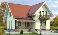 Проект бетонного дома 58-18
