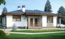 Проект бетонного дома 58-35