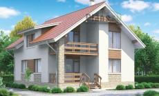Проект бетонного дома 58-62