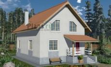 Проект бетонного дома 58-75