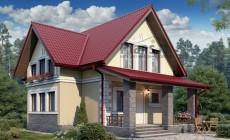 Проект бетонного дома 58-76