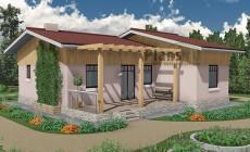Проект бетонного дома 59-02