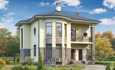 Проект бетонного дома 60-01