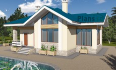 Проект бетонного дома 60-21