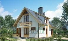 Проект кирпичного дома 70-32