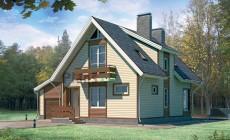 Проект кирпичного дома 70-33