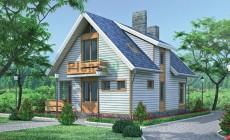 Проект кирпичного дома 70-34