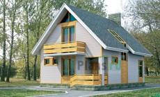 Проект кирпичного дома 70-42