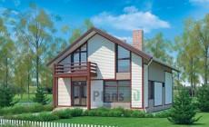 Проект кирпичного дома 70-53