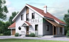 Проект кирпичного дома 70-64