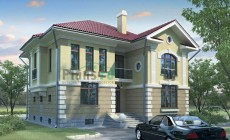 Проект кирпичного дома 70-74