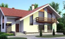 Проект кирпичного дома 70-92