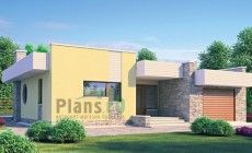 Проект кирпичного дома 70-95