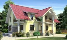 Проект кирпичного дома 71-00