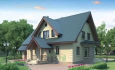 Проект кирпичного дома 71-05