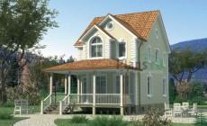 Проект кирпичного дома 71-07