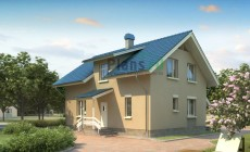 Проект кирпичного дома 71-15