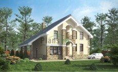 Проект кирпичного дома 71-21