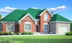 Проект кирпичного дома 71-54