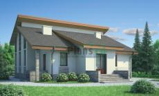 Проект кирпичного дома 71-55