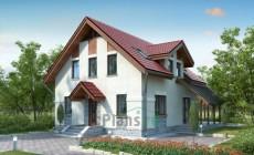 Проект кирпичного дома 71-72