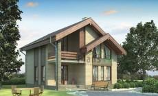 Проект кирпичного дома 71-73