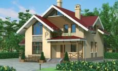 Проект кирпичного дома 72-10