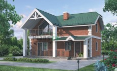 Проект кирпичного дома 72-12