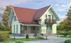 Проект кирпичного дома 72-17