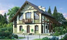 Проект кирпичного дома 72-27