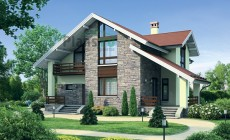 Проект кирпичного дома 72-29